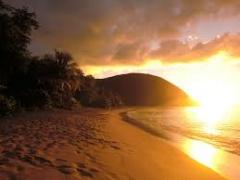 coucher de soleil Anse-Bertrand